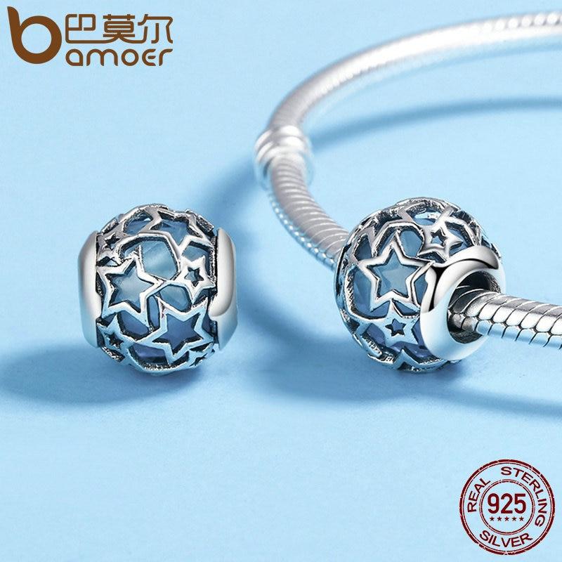 BAMOER 925 Sterling Sølv Radiant Hjerter, Himmelblå Crystal & Clear - Mode smykker - Foto 3