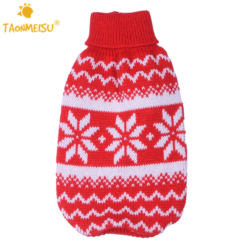 Pet Dog Cat Warm Clothes Dog Christmas Sweaters Snow Fashion Festive ...