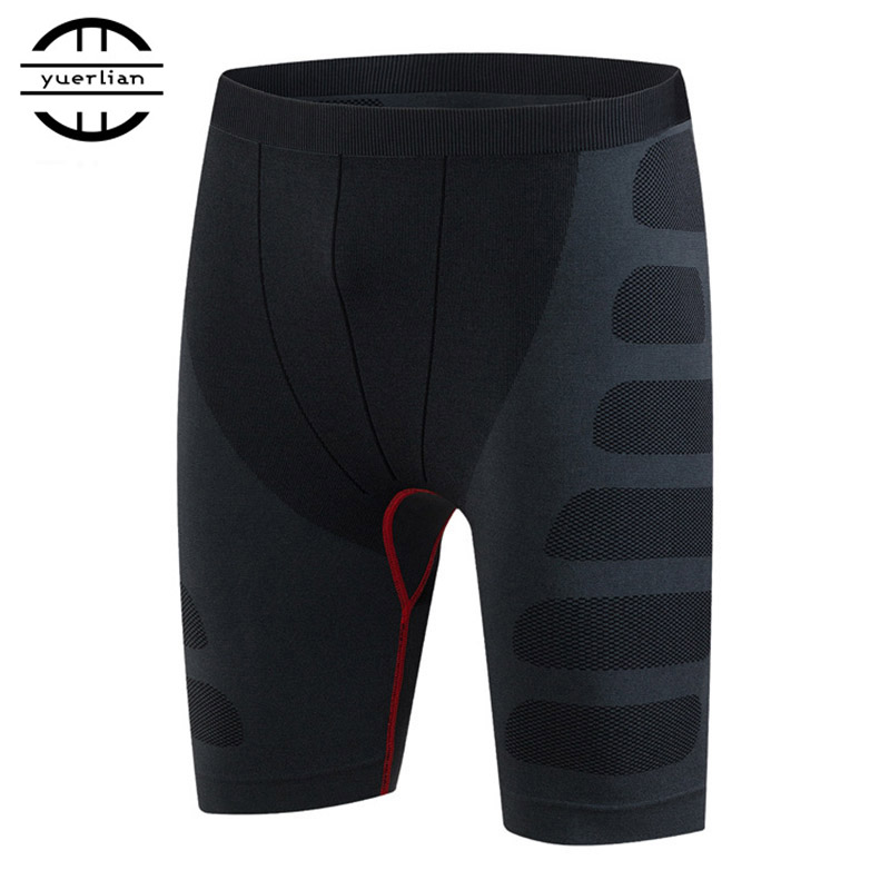 Men Sports Shorts Fitness Legging Man Compression Pants Quick-drying Stretch Running Cycling Workout Gym Tight Shorts Sportwear