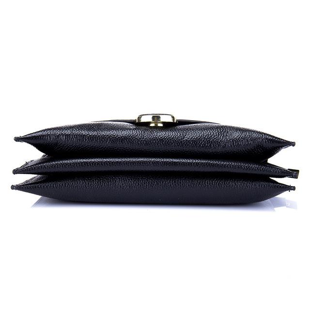 2017 New Arrival Cowhide Genuine Leather Women Fashion Envelope Bag Shoulder Handbag Crossbody Messenger Lady Bags Purses Clutch