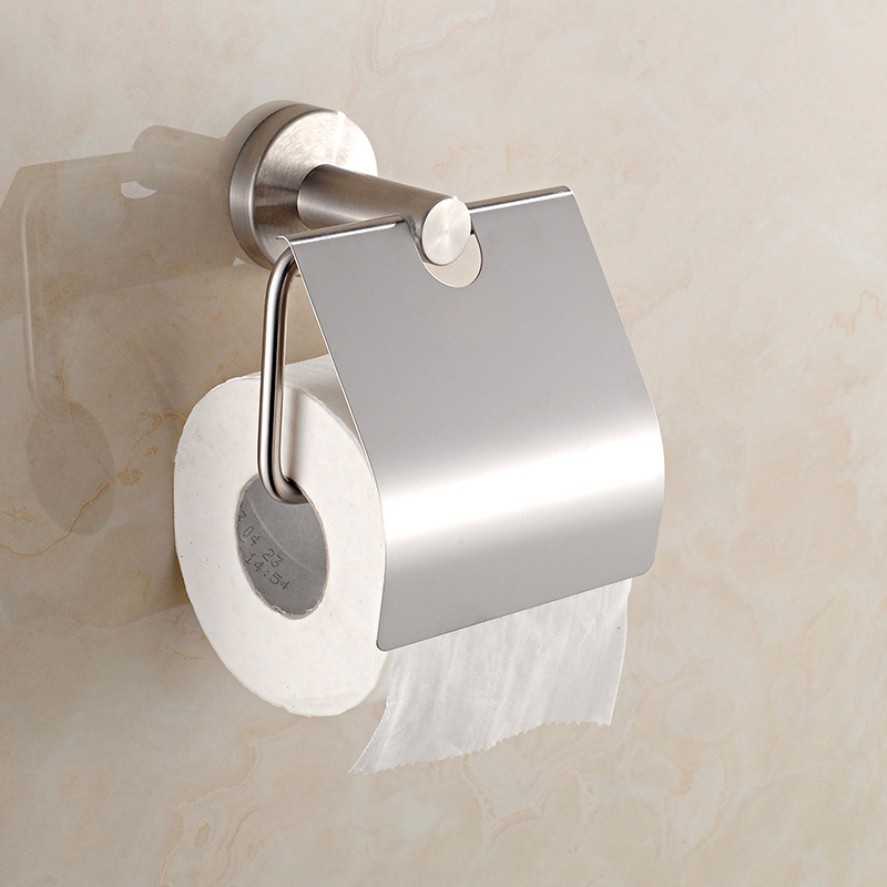 toilet paper rack wall mounted brushed roll paper tissue towel holder
