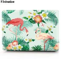Viviration Funda Pro Air Laptop Cover For Macbook Pro 13 Flamingos Prints Silicone Case For Macbook Air 13 Air 11 Pro 15 Skin