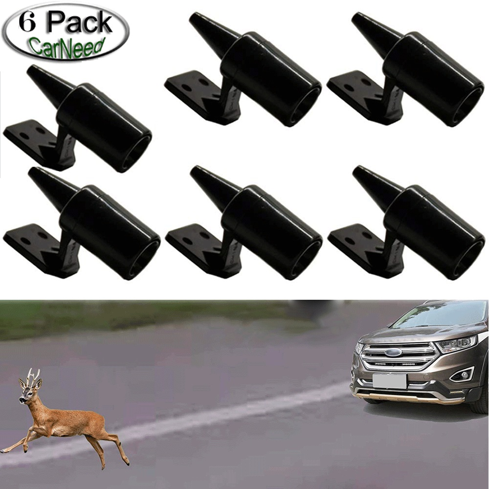 6 X Animal Deer Deterrent Device High Frequency Whistle Audio Alert System Warns