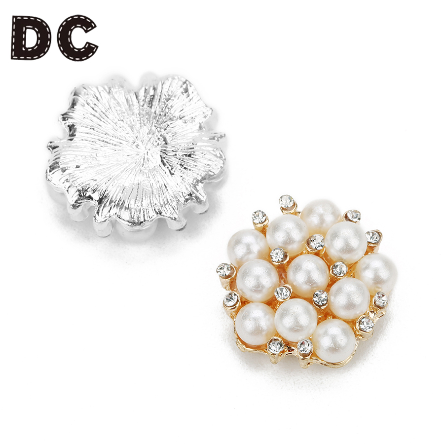 DC 5pcslot Imitation Pearls Rose Gold Color FlatBack Beads 21mm for Cabochon Base Clothes Bag or Phone Case Accessories