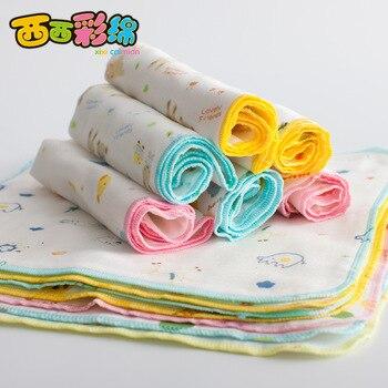 New 5PCS 30*30cm 100% Cotton Cartoon Waterproof Baby Bibs 6 Layers Soft Newborn Kid Feeding Baby Saliva Towel For 0-24 Months