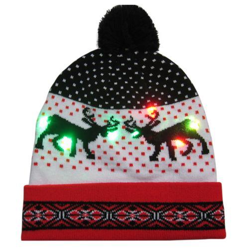 Г., 43 дизайна, светодиодный Рождественский головной убор, Шапка-бини, Рождественский Санта-светильник, вязаная шапка для детей и взрослых, для рождественской вечеринки - Цвет: 09
