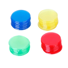 400pcs 4 Colours 3/4 Inch Pro Count Bingo Chips Markers for Bingo Game Cards