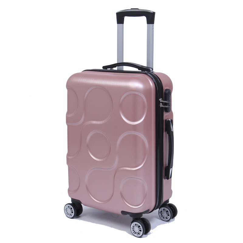 Travel business ABS trolley case students Travel waterproof luggage rolling suitcase Boarding Password box Mute Cardan wheel 2024inch universal wheels luggage abs mute rolling travel bag password lock trolley suitcase colorful hand pull box