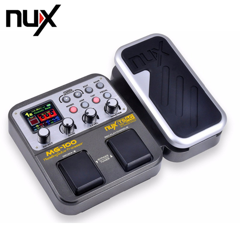 NUX MG-100 MG100 Electric Guitar Digital Synthesizer Effects Pedal Processor 58 Effect Models + Power Adapter Multi-function