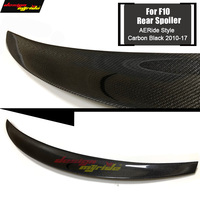 For BMW F10 5 Series Carbon Fiber High Kick Big Trunk Spoiler Wing Ride style 520i 528i 530i 535i 550 wing rear spoiler 2010 17|Spoilers & Wings|   -