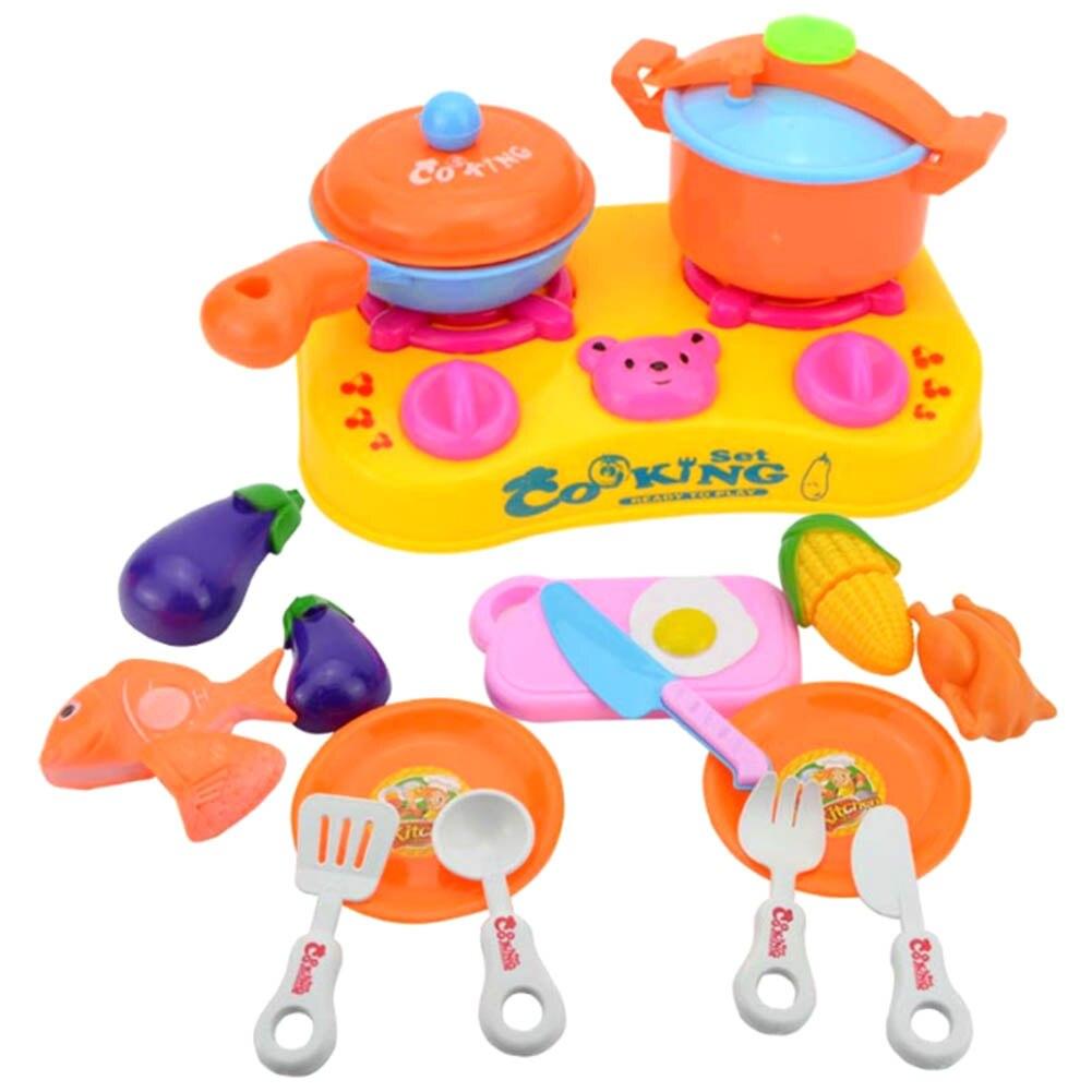 16pcs Plastic Kids Children Kitchen Utensils Food Cooking