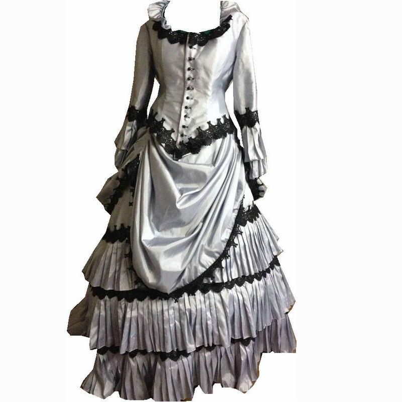 En vente D-113 victorien gothique/guerre civile sud Belle robe de bal robe Halloween théâtre édouardienne robes Sz US 6-26 XS-6XL