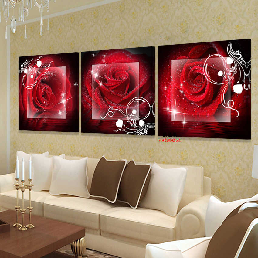 Modern Modular Wall Painting For Living Room On Art Oil Paintings Canvas Pictures Home Decoration Flower Picture No Frame