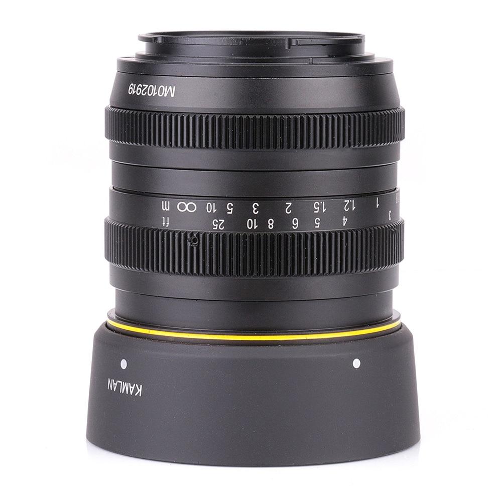 Kamlan 50mm F1.1 APS-C Grande Abertura Manual Focus Lens para canon eos m frete grátis