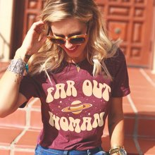 New Fashion Far Out Woman Tshirts 2018 Girls Graphic Tees 60s 70s Vintage Style