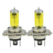 2 x H4 9003 HB2 P43T 12 В 3000 К 55 Вт Золотой Желтый авто HOD галогенные лампы ксеноновые лампы Ультра обновление лампы