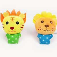 2 stücke Baby Handgelenk Glocke Fuß Socken Gefüllte Nette Plüsch Tier Spielzeug Handbell Weichen Beschwichtigen Spielzeug Entwicklungs Kinder Säuglingsmarionettenpuppen geschenke