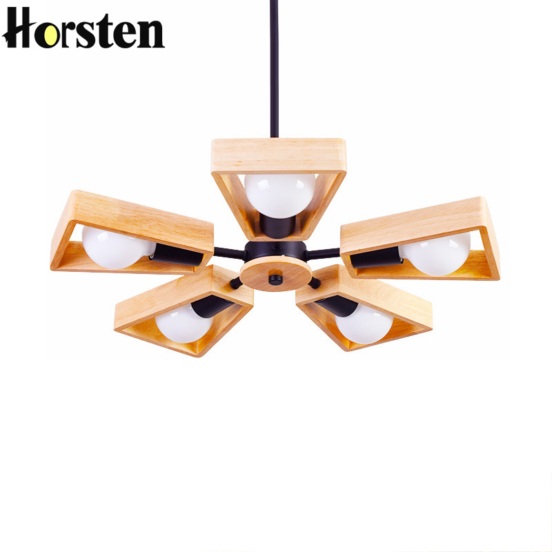 Horsten Wood Pendant Light Art Deco Nordic Modern Wood Pendant Lamp Hanging Lights For Home Hotel Living and Dining Room Bedroom high quality led modern minimalist crystal pendant lamp light luxury living room bedroom art creative restaurant hanging lights