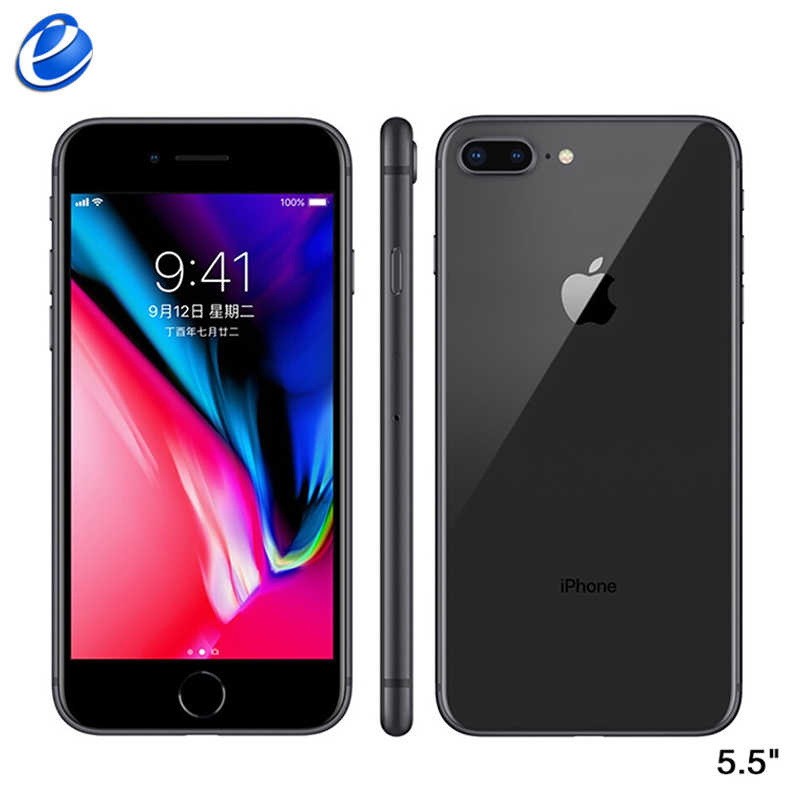 Original Da Apple iphone 8 Plus Hexa Core iOS 64 3 GB de RAM/256 GB ROM 5.5 polegada Celular 12MP Impressão Digital 2691 mAh Telefone Móvel LTE