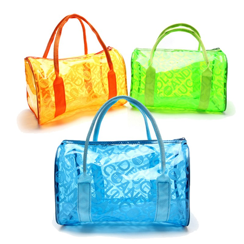 Cosmetic Bag Beach Travel Outdoor Jelly Candy Colors Clear Fashion ...