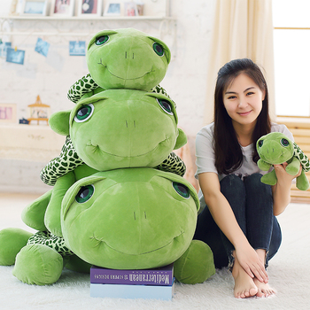 Hot Giant Animal Turtle Plush Toy Big Cute Cartoon Tortoise Stuffed Toys Pillow for Children Gift Decoration 100cm 120cm 150cm