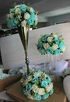 SPR NEW!!10pcs/lot tiffany blue wedding road lead table centerpiece artificial flowe kissing ball flowers ball decoration