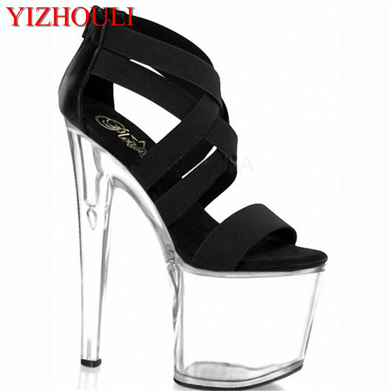 HOT 8 inch Sexy Stiletto High Heels Open Toe Gladiator Sandals Womens Shoes 20cm High-Heeled Crystal Shoes Platform Dance ShoesHOT 8 inch Sexy Stiletto High Heels Open Toe Gladiator Sandals Womens Shoes 20cm High-Heeled Crystal Shoes Platform Dance Shoes