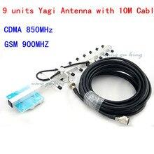 13dBi 9 единиц CDMA GSM внешняя антенна Yagi 824-960 МГц внешняя антенна для мобильного телефона усилитель сигнала N разъем