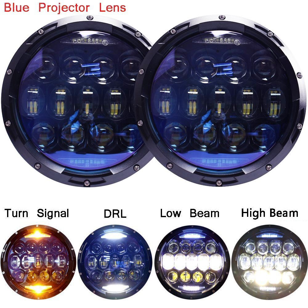 7 inch round LED Headlights Conversion Kit DRL parking light 130w H4 motorcycle Led lamp for