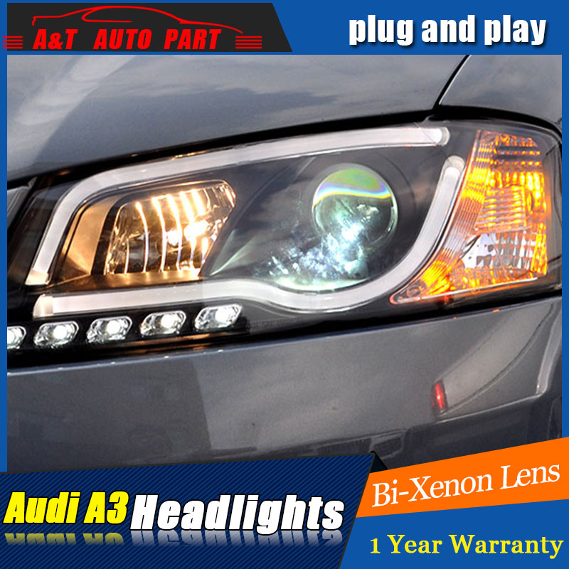 Auto Lighting Style LED Head Lamp for AU DI A3 headlights 2008-2012 for A3LED angle eyes drl H7 hid Bi-Xenon Lens low beam auto lighting style led head lamp for vw t5 headlights 2010 2014 for t5 angle eyes drl h7 hid bi xenon lens low beam