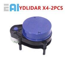 цена на 2 PCS EAI YDLIDAR X4 LIDAR Laser Radar Scanner Ranging Sensor Module 10 meters 5KHz Ranging Frequency EAI YDLIDAR-X4 for ROS