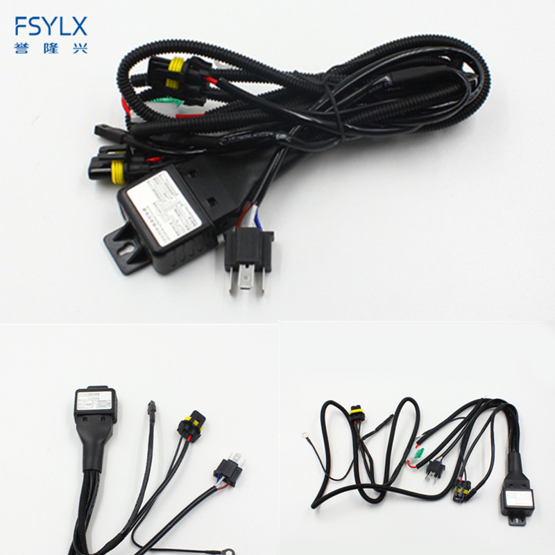 FSYLX 12V 35W 55W 75W HID Bi xenon H4 Wire Harness Controller for Car Headlight Retrofit connect hid bixenon projector lens
