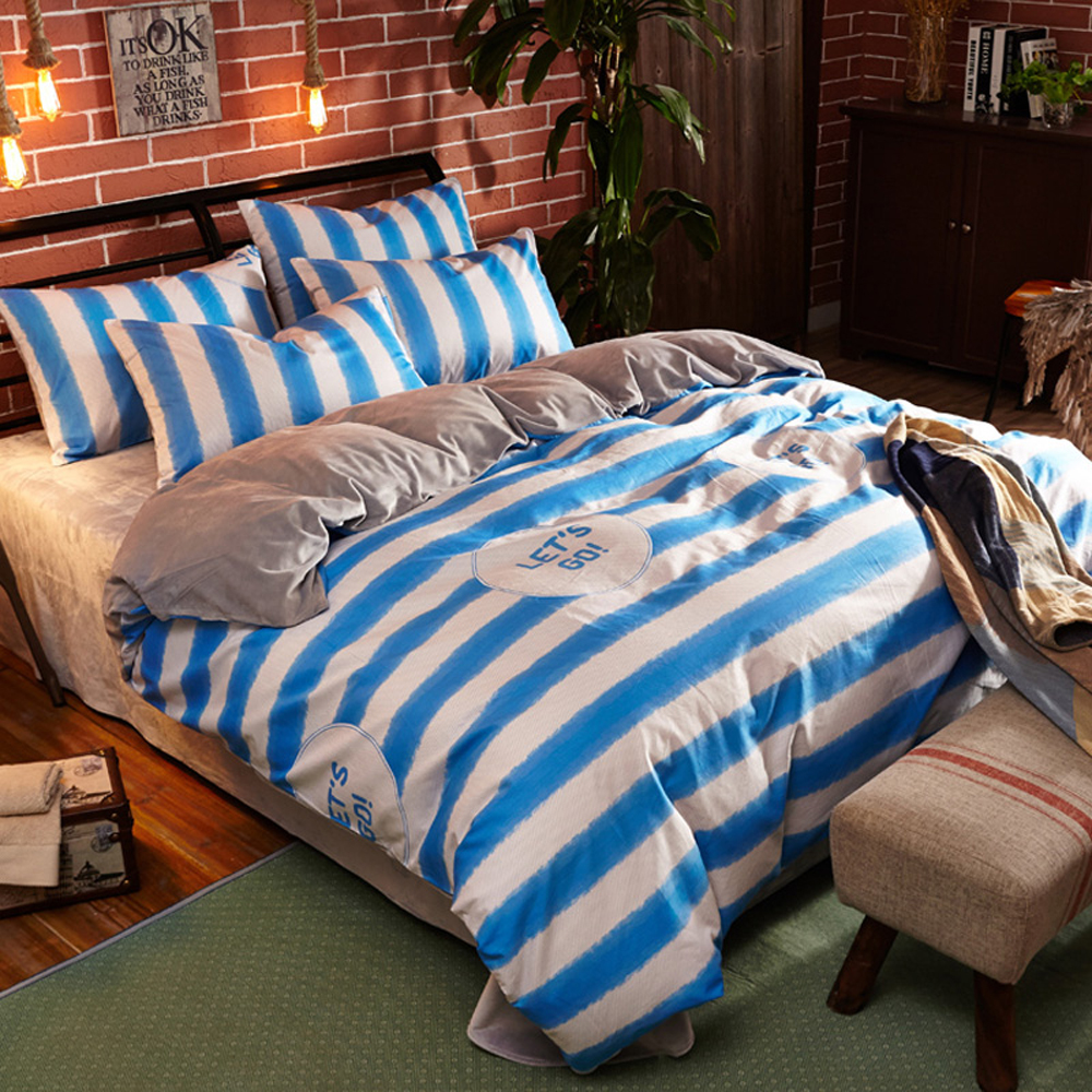 Boy plaid bedding - 100 Cotton Flannel Material Stripes Plaid Geometric Pattern Duvet Cover Bed Sheet Set