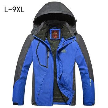 Ilkbahar sonbahar erkek ceket Büyük boy mont erkekler için jaqueta Rüzgarlık moda erkek turizm ceketler spor su geçirmez Rüzgar