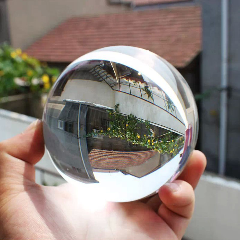 1 pcs Artificial Clear Photography Lens Props 60mm Crystal Glass Ball Home Decoration Rockery Fountain Magic Feng Shui Globe