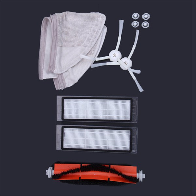 Suitable for Xiaomi Roborock Robot S50 S51 Vacuum Cleaner Spare Parts Kits Mop Cloths Wet Mopping filter Side Roll Brush цена и фото