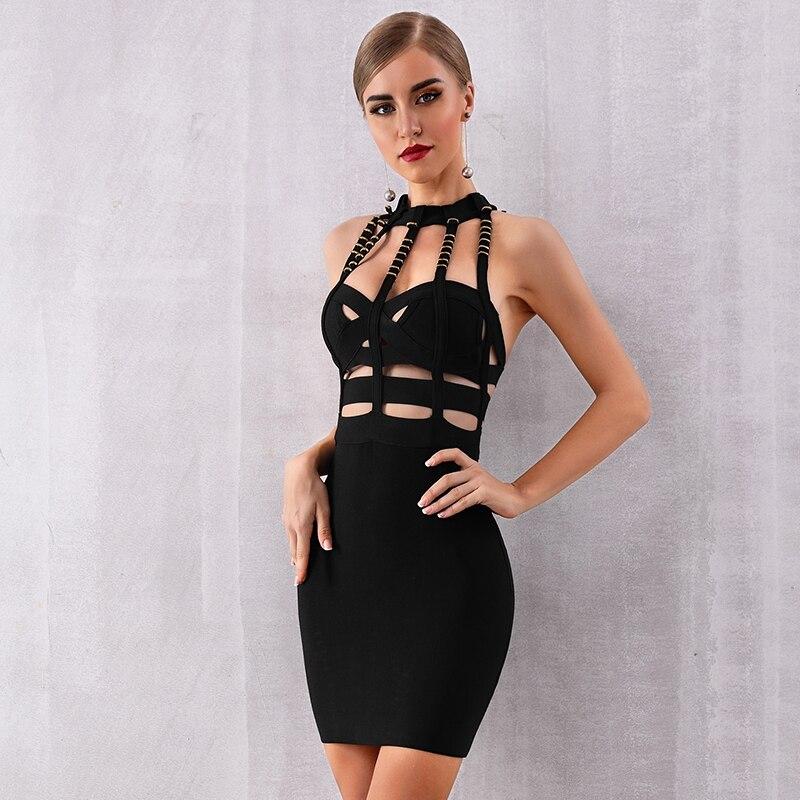 440f3b1197 Nuit Robe Gros En 2019 Style O De Con Dos cou Corps Nu Femmes Boîte Sexy Soirée  Robes Évider Nouveau Bandage Célébrité 5A3jLq4R