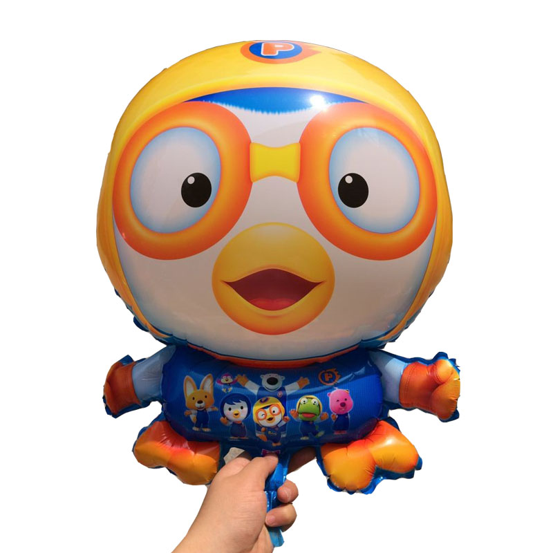 Cartoon Korea Pororo Little Penguin Foil Balloons inflatable happy Birthday ball