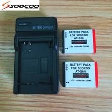 ل SOOCOO الأصلي S80/S70/S60/S60B عمل كاميرا الملحقات 1050mAh بطارية معها شاحن ل s70 s60 S80 الرياضة كاميرا