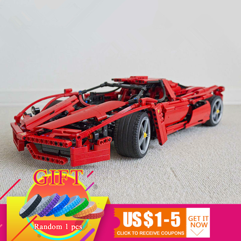 9186 1359pcs Technical ENZO 1:10 Super Racing Car set compatible with 8653 Model Building Blocks Educational toys бензопила stihl ms 180 c be 16 picco