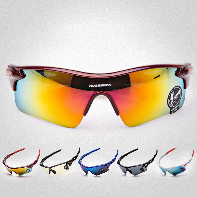 ROBESBON 2017 cycling glasses goggles sport mtb bike bicycle sunglasses eyewear for men women sports UV400 multi color