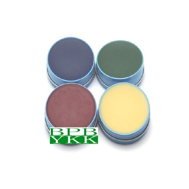 Cera de enfrentamento da margem da coroa da cera marginal do laboratório dental de 1 caixa para coroas de pfm e fcc 4 cores 80g pela caixa