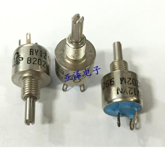 Япония прецизионный потенциометр RV12YN15SB202 одно кольцо тип уплотнения сопротивление 2 К осевая длина 15 ММ