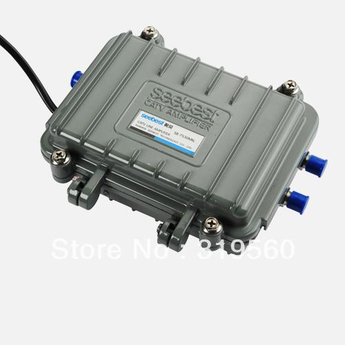 ФОТО Seebest Cable TV Signal Amplifier Splitter Booster CATV trunk Amplifier 2 Output 30DB SB-7530MK