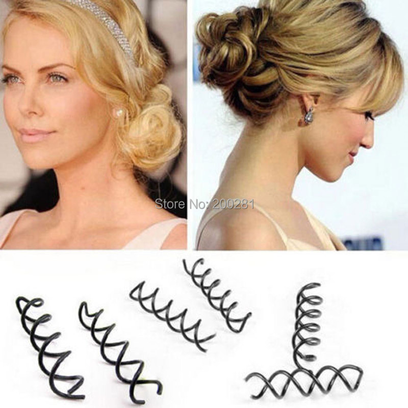 10Pcs/set Spiral Spin Screw Bobby Pin Hair Clip Hairpin Twist Barrette Black Hair Accessories Plate Made Tools Bridal jewelry