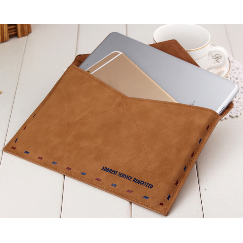 Hot Universal Portable Retro Leather Tablets Bag for Ipad air of 9.7 Inch Fashion Envelope Pouch Case Cover for Lenovo Dec29