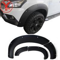 2014 2016 fender flare For ISUZU MU X SUV 2014 2015 2016 matte black Mudguards deflectors parts accessories for MUX 2016 YCSUNZ