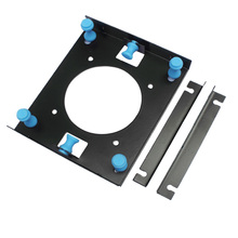 "Black 3.5 "" SATA HDD to 5.25"" Bay Hard Disk Drive Shock Absorption Bracket converter mounting kit w/ w 8cm Fan Space"