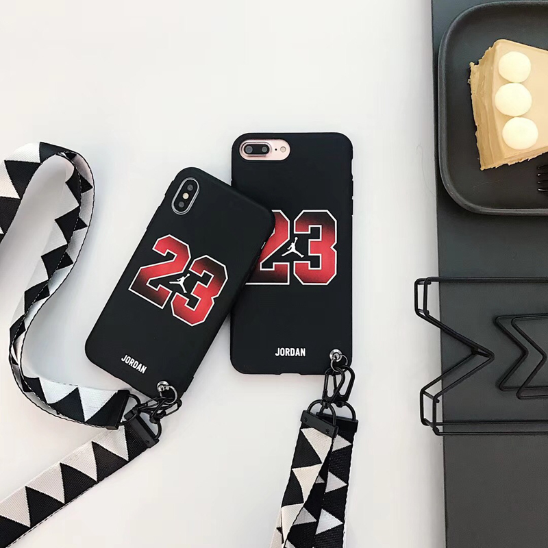 c1de0d50c1b003 New bull Jordan 23 fly man soft silicon Cover case for iphone 6 6S S plus 7  7plus 8 8plus X Lanyard jump man phone cases funda-in Half-wrapped Case  from ...