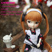1 6 BJD Doll Girl SD Doll Joint Body With Bangs Realistic Toy 12 Inches Princess